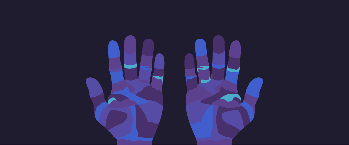 Hands illustration for God in the Machine